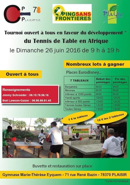 Tournoi En Faveur Du Tennis De Table En Afrique Club Pongiste