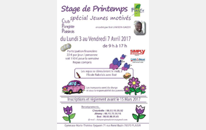 Stage d'avril 2017